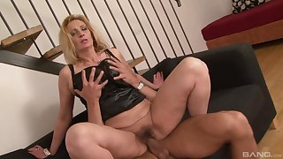 Pairis Angelo caught him masturbating so she rode his cock