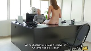 LOAN4K. Perfect coed owned unconnected with agent by reason of needs money