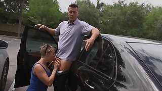 Cougar sucks and fucks young alms-man in brutal modes