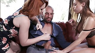 Amazing nicely overflow with whore Britney Amber goes nuts during wanton FFM