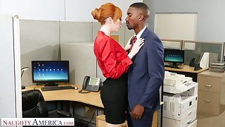 Eye catching milf Lauren Phillips seduces well endowed black co-worker