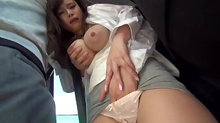 Big-Chested, Japanese black-haired is getting sexually abused in a public buss, barricade she enjoys colour up rinse heaps