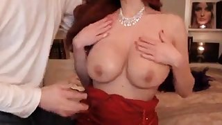 Beautiful Babe In Red Dress Gets Fucked