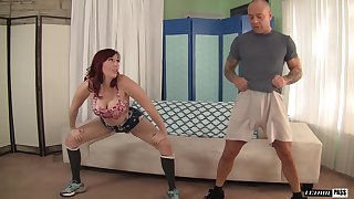 Lauren Phillips takes off her clothes for a quick shag