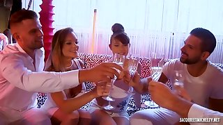 Party Turns Into Group Fucking Having Sex - HARDCORE Pellicle
