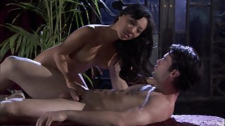 After a blowjob Asa Akira got her mean pussy fucked by young dude