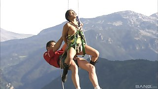 Outdoor copulation adventures with a horny girl Lassie Mai and her friends