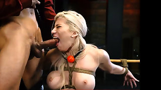 Anal slave domination Big-breasted ash-blonde sweetie
