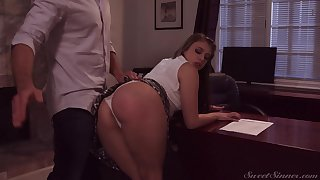 Loose girl Gia Derza seduces teacher and gets her muff nailed beyond everything the table