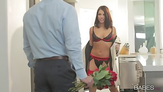 Lingerie diva teases man on every side perfect scenes before possessions laid