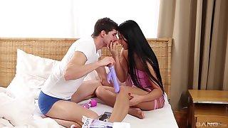 Sweet brunette may seem idealizer but she wants the dick like a slut