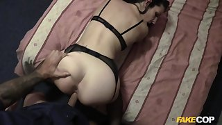 Amateur in all directions sex lingerie, deep doggy style POV sex