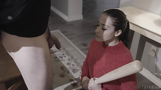 The owner of impressive pubic hair and natural tits Avi Adore loves anal
