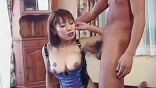 Hairy pussy Japanese wife Sari loves riding him in cowgirl