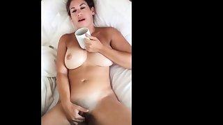 Intimate Morning Masturbation and Blowjob