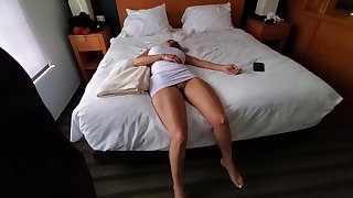 Taken aback blonde with big boobs is on touching to become a fuck doll be required of a horny beggar