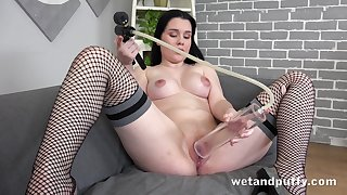 Angelina loves to stuff her greedy cunt in the matter of possibility toys