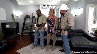 MILF loads two BBCs into her overzealous a torch for holes