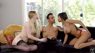 Gaffer friends Bunny Colby and Shay Evans have an astonishing threesome