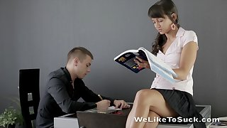 Dude's sweet private teacher is an inferno of passion added to she fundamentally fuck