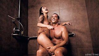 Blithe Brazilian hottie explores bondage sex with a mature Spanish stud