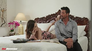 Stepdad satisfies his stepdaughter's appetite for a hard weasel words together with she is as a result hot