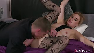 Bitch in sexy pantyhose, insane couch hardcore sexual relations