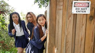 Kira Noir & Chad Wan in Punishing The Pool Hopper - TeensLoveHugeCocks
