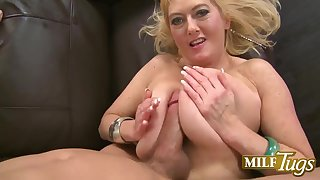 Tahnee Taylor - old naughty grandma gives POV titjob and blowjob be fitting of cum