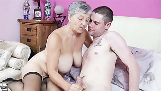 Old and young mature hardcore action with busty lady Savana