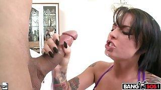 Christy Mack sucks pleasurable dick