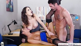 Ashley Adams fucking in the office with her brown eyes
